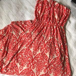3/$25 Fashionomics Patterned Maxi Dress Creamsicle